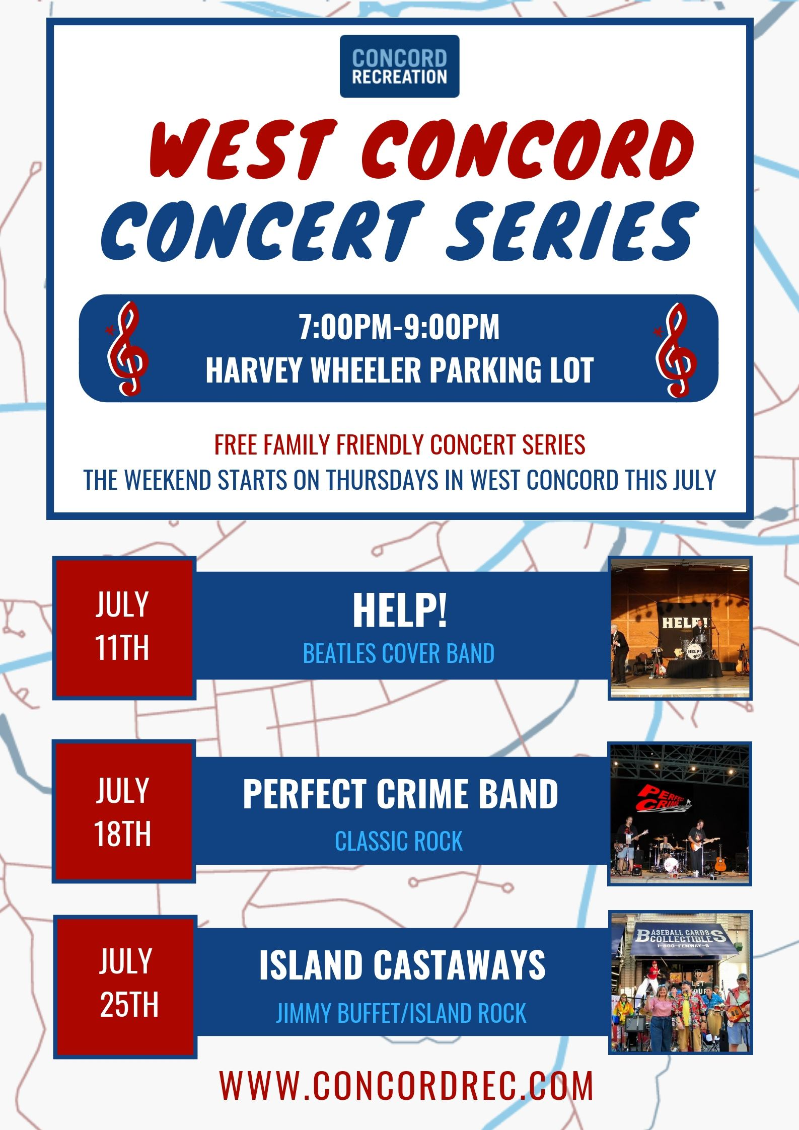 West Concord Summer Concerts 2019